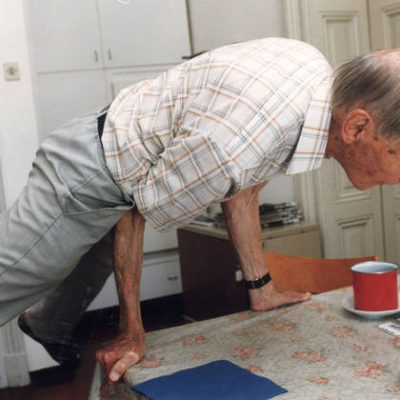 Leon Štukelj at age 100