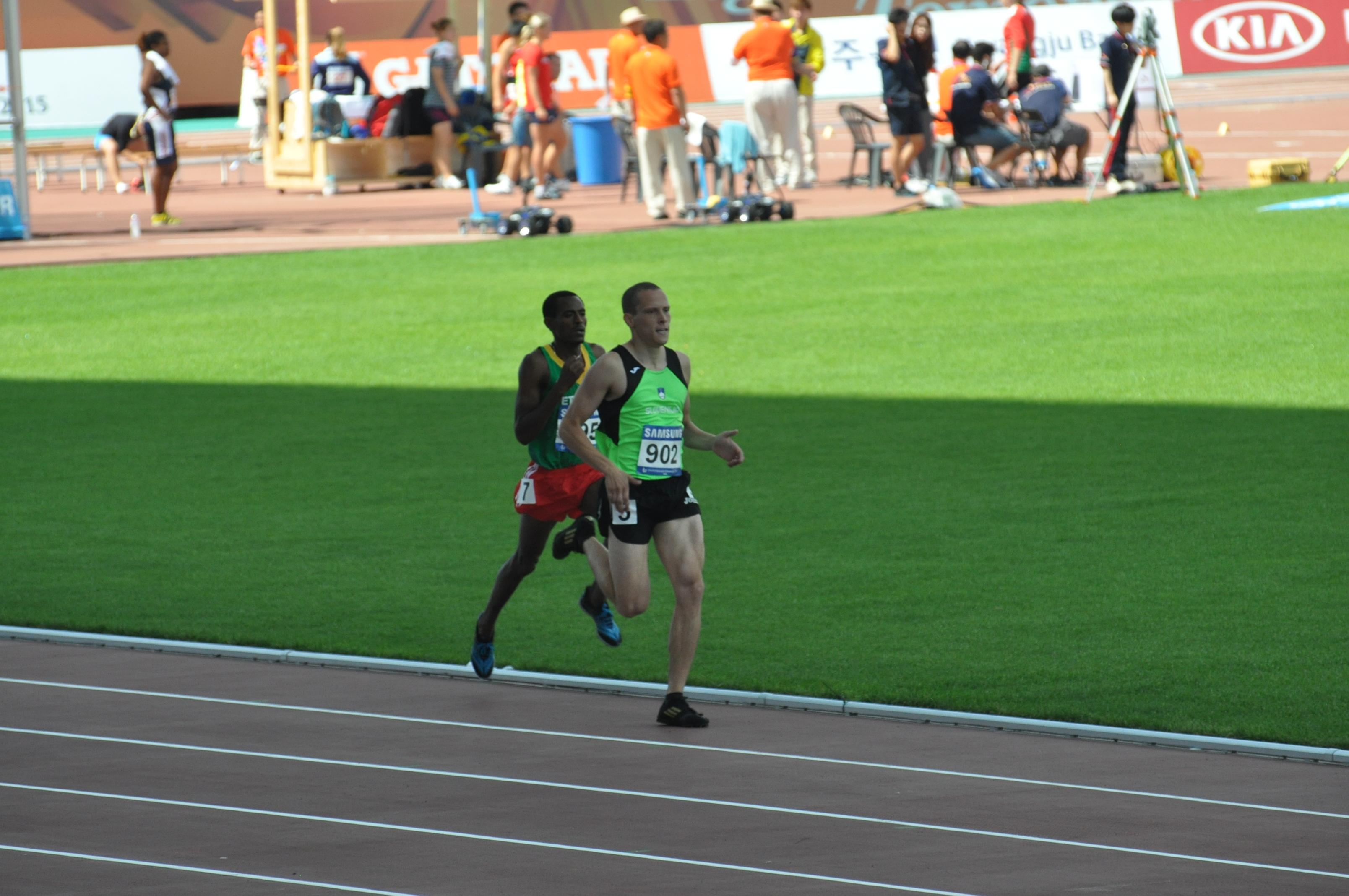 In 2015 I ran 800 metres at the summer Universiade in Gwangju.