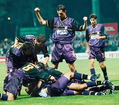 NK Maribor qualifying for the champions league 1999